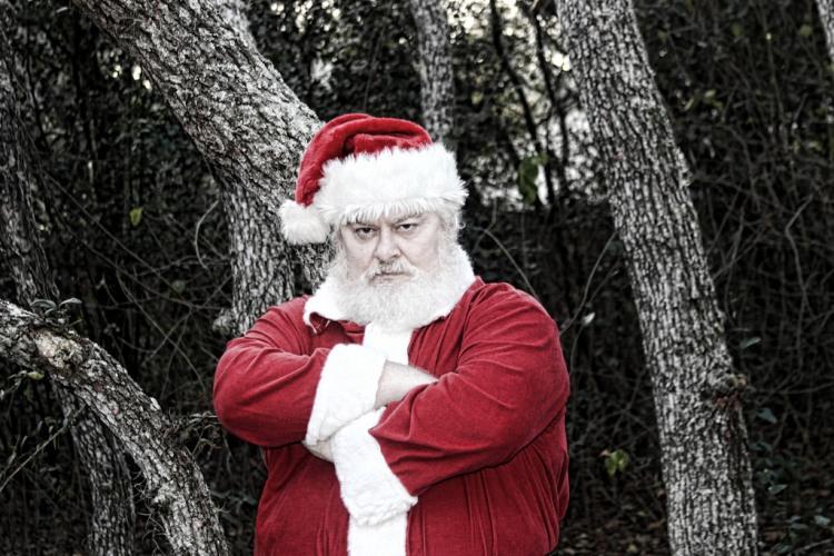 Grumpy Santa by Richard Elzey